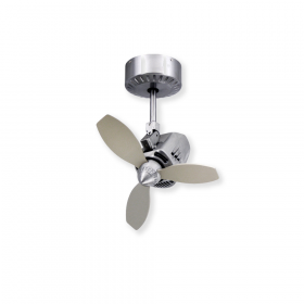 TroposAir Mustang Oscillating Ceiling Fan - Brushed Aluminum