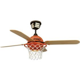 "52"" Craftmade ProStar Basketball ProStar Basketball Finish with Basketball Court Blades and Light Kit"