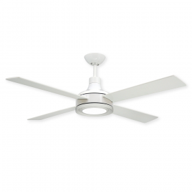 "52"" Quantum Ceiling Fan - Pure White - Optional LED Light (sold separately)"