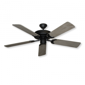 "52"" Raindance Ceiling Fan - Matte Black with Driftwood Blades"