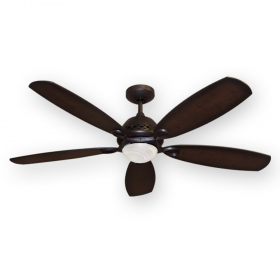 "52"" Ramsey Ceiling Fan - Oil Rubbed Bronze with Distressed Hickory Blades"