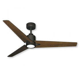 "52"" Reveal DC Ceiling Fan - Oil Rubbed Bronze - Walnut Blades and Optional LED Light"