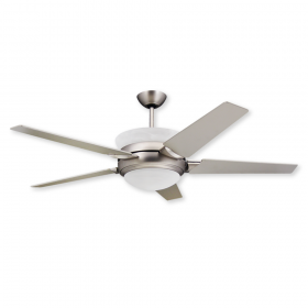 "TroposAir Sunrise - 56"" Ceiling Fan with Uplight and Remote - Satin Steel Finish"