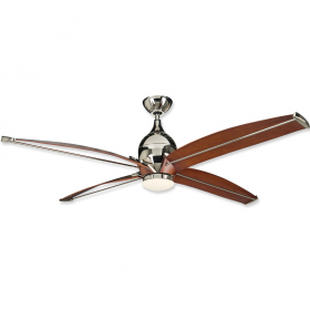 "Craftmade Tyrod 60"" DC LED Ceiling Fan Polished Nickel"