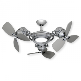 TroposAir TriStar II - Brushed Nickel - Shown with LED Light (sold separately)